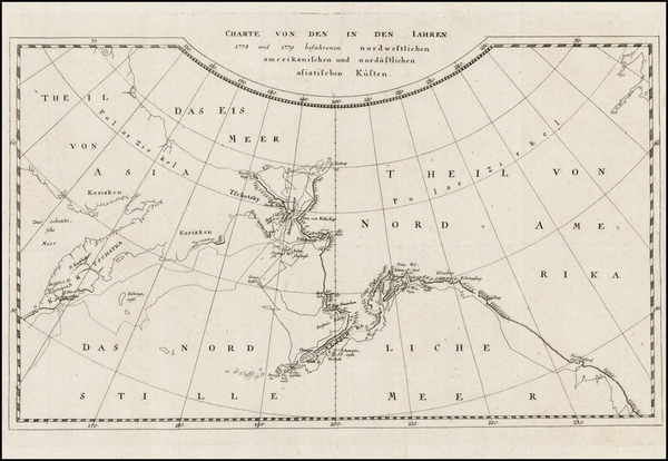 Alaska Map By James Cook