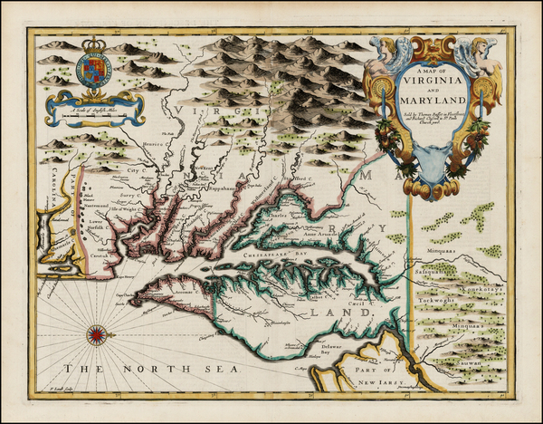 33-Mid-Atlantic and Southeast Map By John Speed