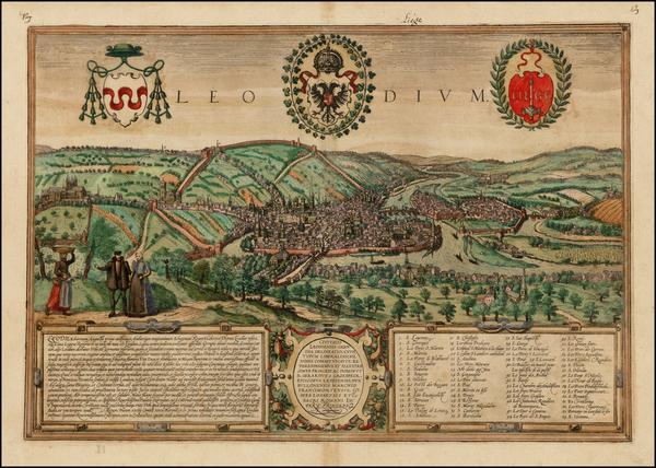 81-Belgium Map By Georg Braun  &  Frans Hogenberg