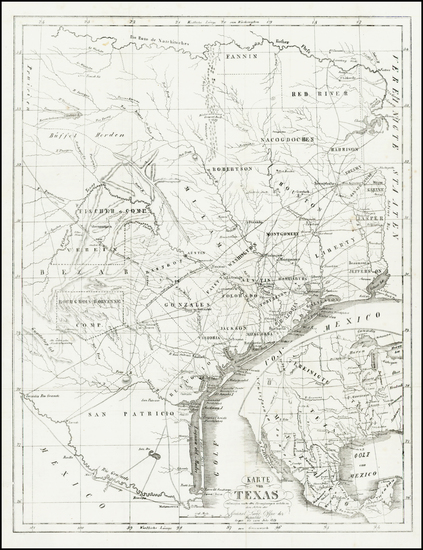 76-Texas Map By Anonymous / Hunt & Randel
