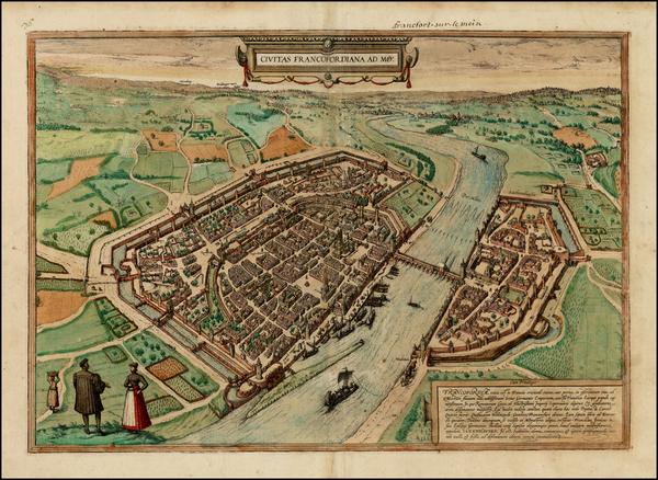 19-Germany Map By Georg Braun  &  Frans Hogenberg