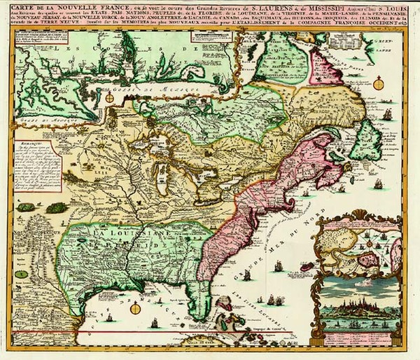 100-United States, South, Midwest and Canada Map By Henri Chatelain