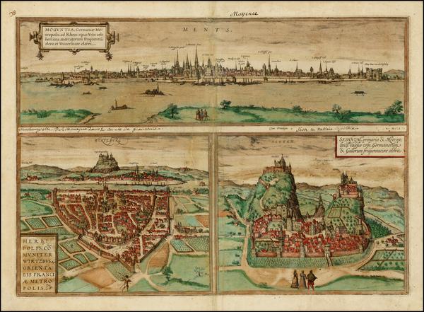 20-Germany Map By Georg Braun  &  Frans Hogenberg