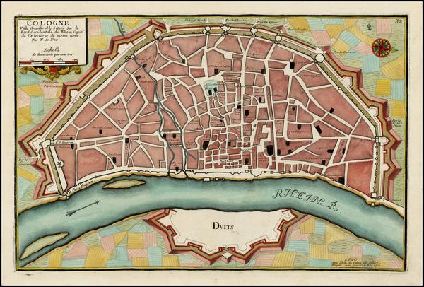 10-Germany Map By Nicolas de Fer