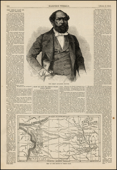 15-Plains and Rocky Mountains Map By Harper's Weekly