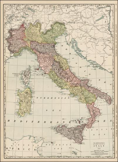 7-Italy Map By Rand McNally & Company