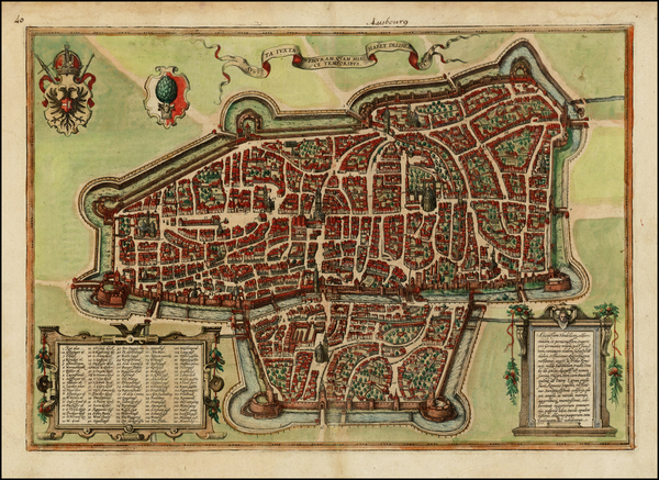 85-Germany Map By Georg Braun  &  Frans Hogenberg