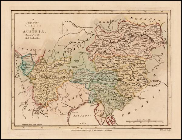 66-Austria Map By Robert Wilkinson