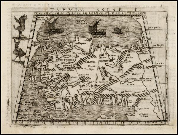 48-Turkey and Turkey & Asia Minor Map By Giacomo Gastaldi