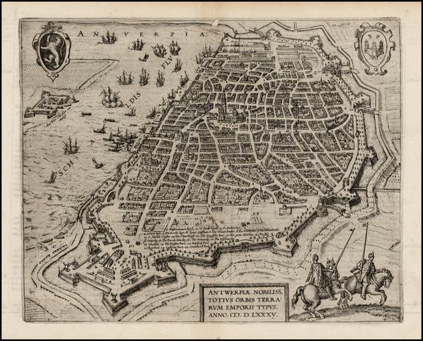 74-Belgium Map By Michael Aitzinger