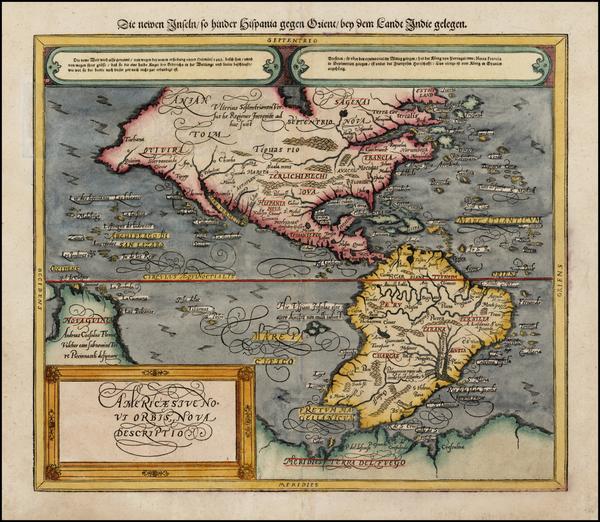 35-Western Hemisphere, South America and America Map By Sebastian Munster