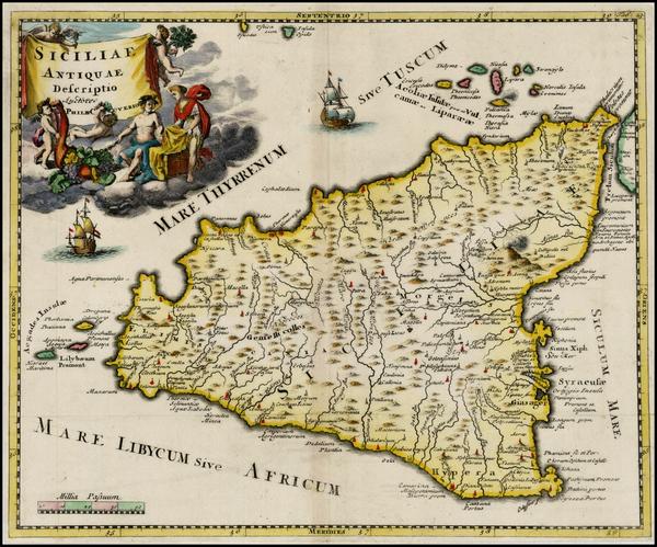 93-Sicily Map By Philipp Clüver