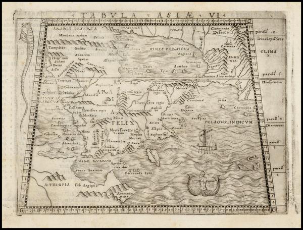 34-Turkey and Turkey & Asia Minor Map By Giacomo Gastaldi