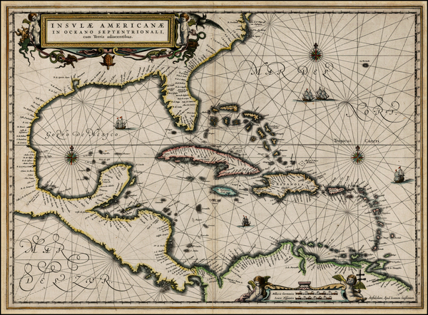 97-South, Southeast, Caribbean and Central America Map By Jan Jansson