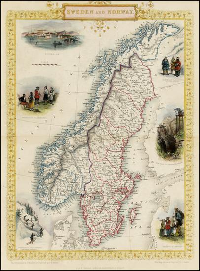 47-Scandinavia Map By John Tallis