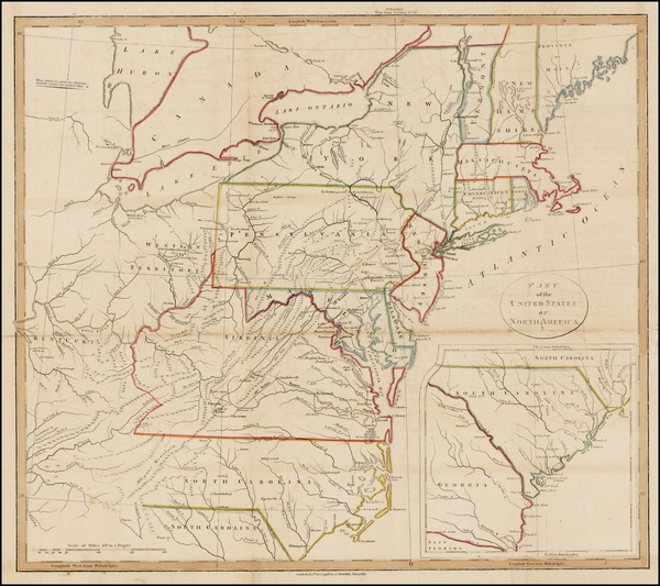 97-United States, Mid-Atlantic and Southeast Map By John Stockdale
