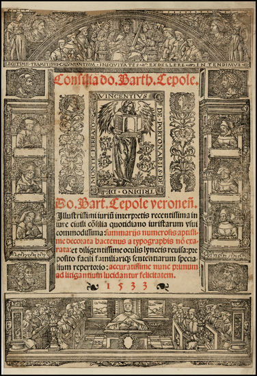 18-Title Pages Map By Bartholomaeus  Caepolla