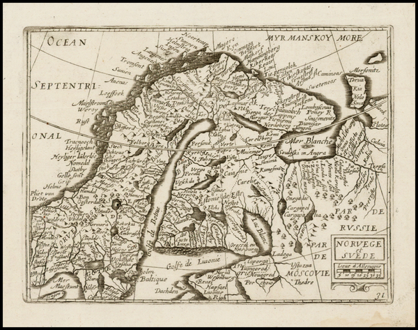 67-Scandinavia Map By Jean Picart