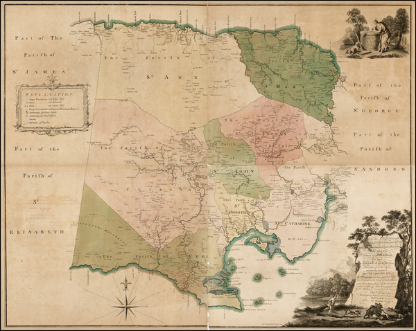 Caribbean and Jamaica Map By Thomas Craskell  &  James Simpson