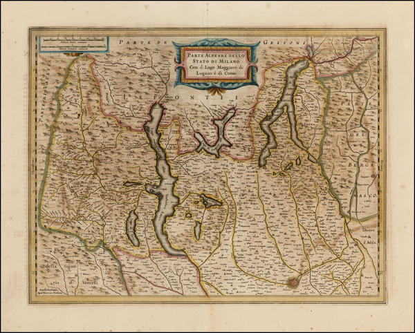 86-Italy and Northern Italy Map By Henricus Hondius