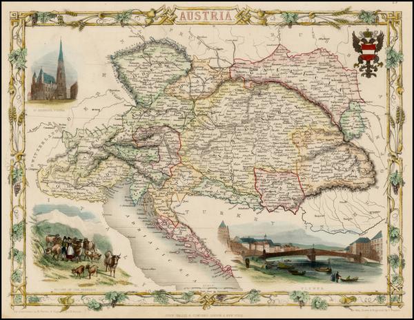 26-Austria Map By John Tallis