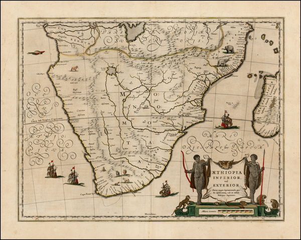 1-South Africa and African Islands, including Madagascar Map By Willem Janszoon Blaeu