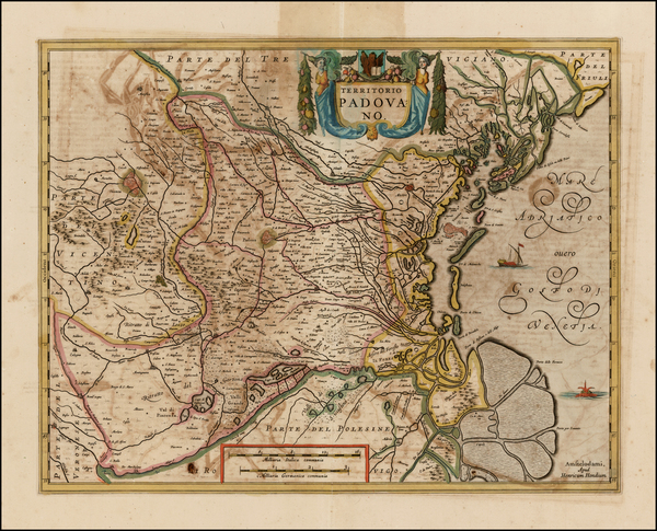 74-Italy and Northern Italy Map By Henricus Hondius
