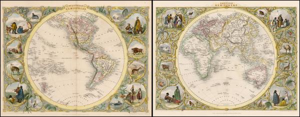 78-World, World, Eastern Hemisphere, Western Hemisphere, South America and America Map By John Tal