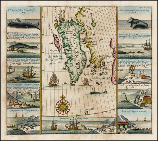 82-Northern Hemisphere, Polar Maps, Russia and Scandinavia Map By Samuel Purchas