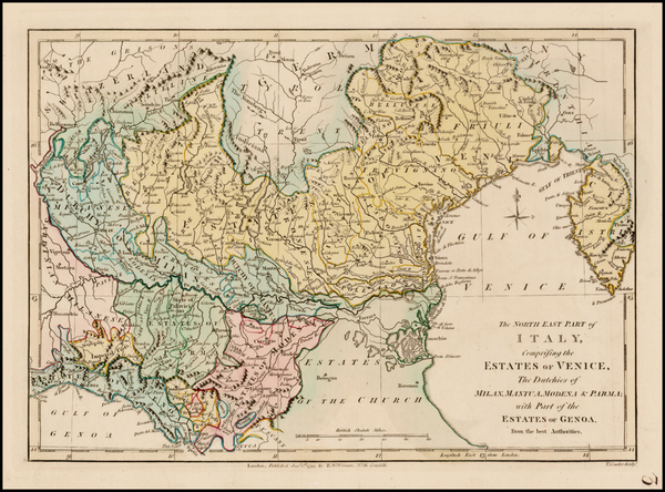 9-Italy Map By Robert Wilkinson