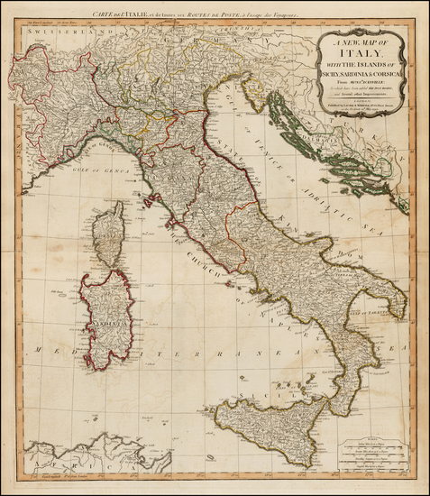 66-Italy and Balearic Islands Map By Laurie & Whittle