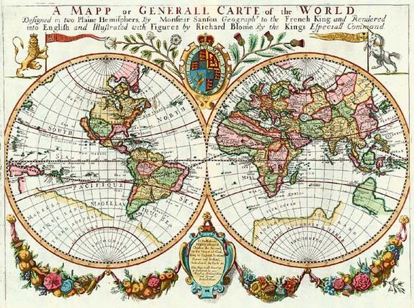 21-World, World, Australia & Oceania, Australia, Oceania and New Zealand Map By Richard Blome