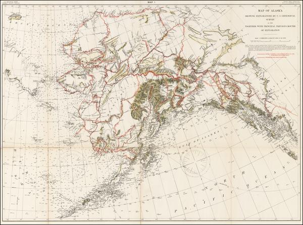99-Alaska Map By U.S. Geological Survey