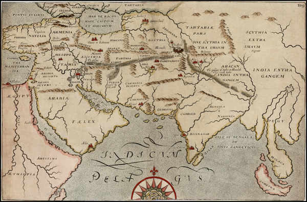 26-Indian Ocean, India, Southeast Asia and Central Asia & Caucasus Map By William Hole