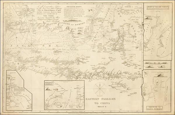 Southeast Asia, Indonesia and Other Islands Map By James Horsburgh