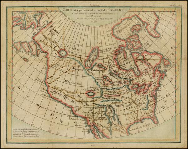 8-Alaska and North America Map By Denis Diderot / Didier Robert de Vaugondy
