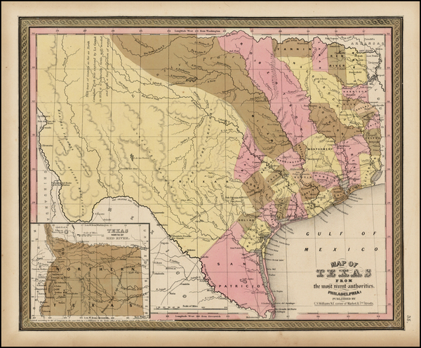 11-Texas Map By Henry Schenk Tanner