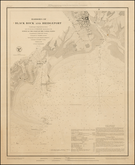 71-Connecticut Map By United States Coast Survey