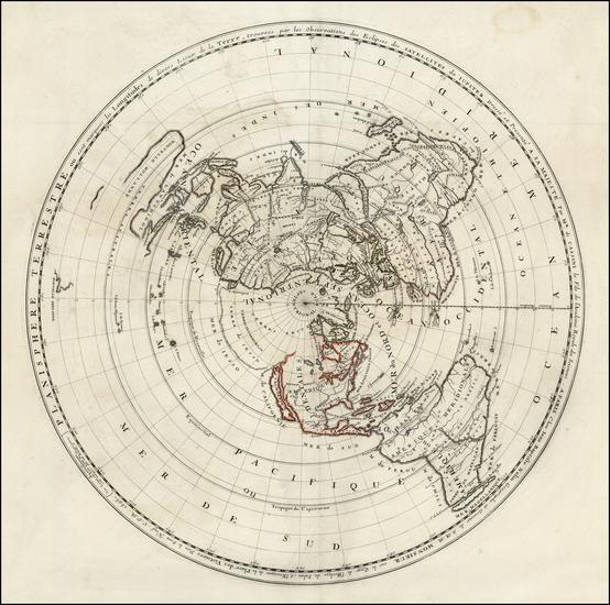 21-World, World, Polar Maps, Australia and New Zealand Map By Jean-Baptiste Nolin / Giovanni Domen