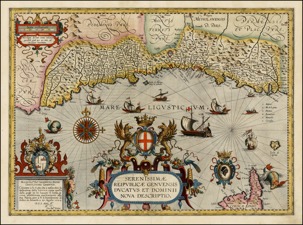 40-France and Italy Map By Abraham Ortelius / Johannes Baptista Vrients