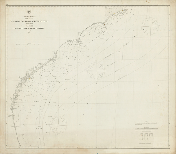 47-Florida and Southeast Map By United States Coast Survey