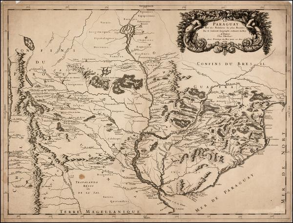 52-Paraguay & Bolivia Map By Nicolas Sanson