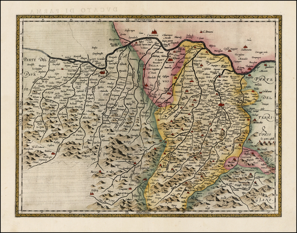 65-Italy Map By Abraham Ortelius