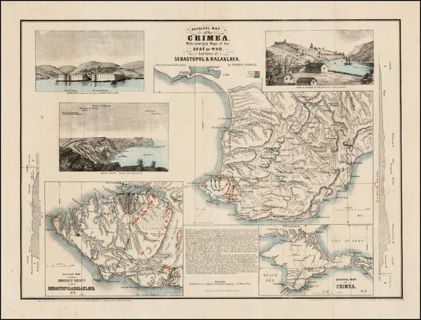 42-Russia and Ukraine Map By John P. Jewett & Co. / Ernest Sandoz