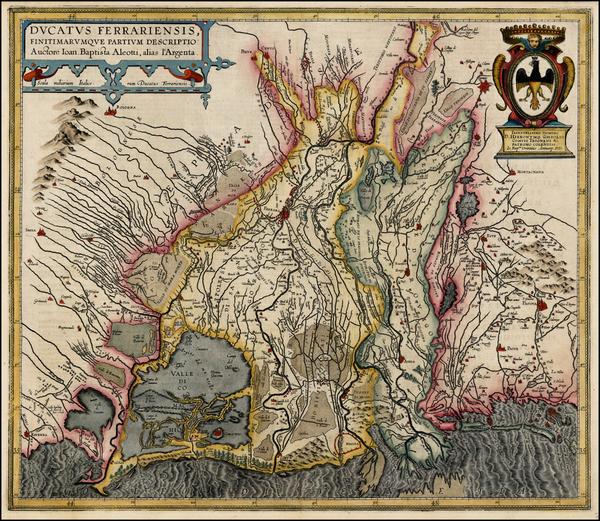 85-Italy Map By Abraham Ortelius