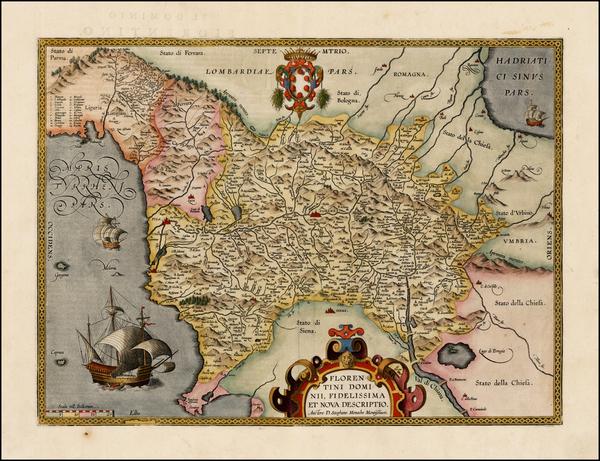 3-Italy Map By Abraham Ortelius
