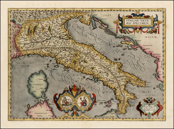 18-Italy Map By Abraham Ortelius