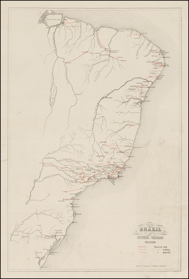 81-Brazil Map By Imperial Instituto Artistico