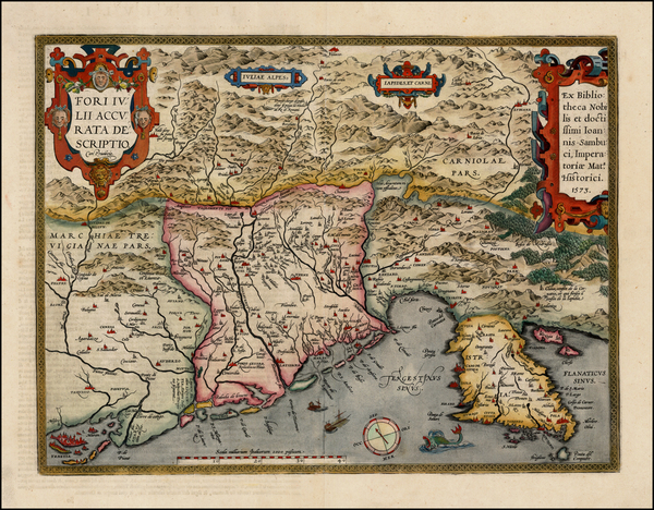 46-Balkans and Italy Map By Abraham Ortelius