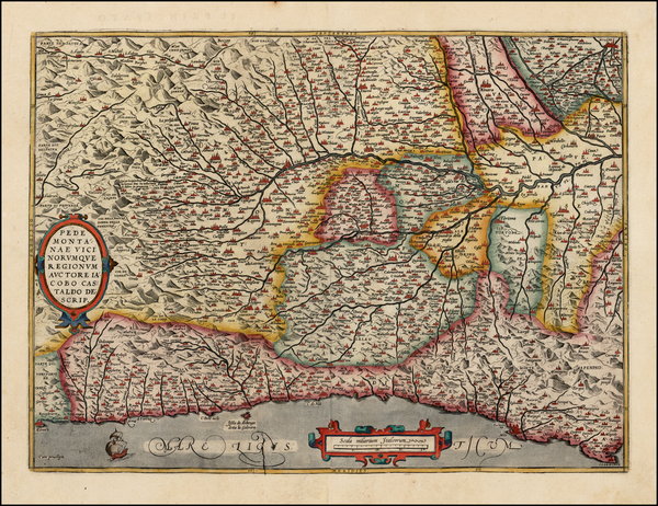 89-Italy and Northern Italy Map By Abraham Ortelius